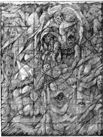3 Drawing Triptych Panel 2