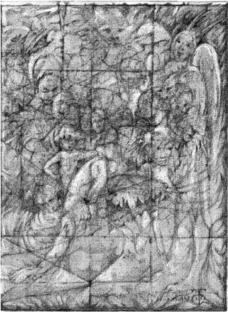 3 Drawing Triptych Panel 3