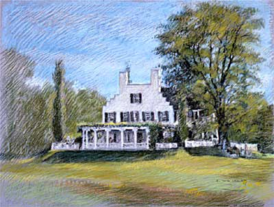 Aspet House - Fine Art Pastel by E. Thor Carlson