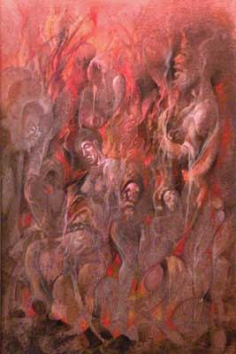 The Everlasting Fire - Dante's Inferno Art by E. Thor Carlson