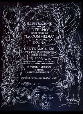 Title page Dante by E. Thor Carlson