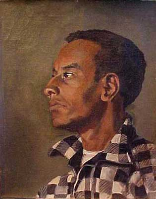 Young Black Man - Portrait by E. Thor Carlson